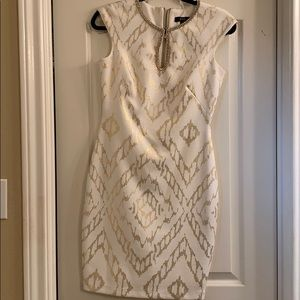 Jax White & Gold Dress